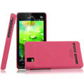 IMAK Ultrathin Matte Color Covers Hard Cases for Motorola XT928 - Rose (High transparent screen protector)
