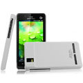 IMAK Ultrathin Matte Color Covers Hard Cases for Motorola XT928 - White (High transparent screen protector)