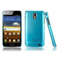 IMAK Ultrathin Matte Color Covers Hard Cases for Samsung E110S Galaxy SII LTE - Blue (High transparent screen protector)