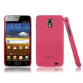 IMAK Ultrathin Matte Color Covers Hard Cases for Samsung E110S Galaxy SII LTE - Rose (High transparent screen protector)