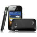 IMAK Ultrathin Matte Color Covers Hard Cases for Samsung S5368 - Black (High transparent screen protector)