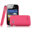 IMAK Ultrathin Matte Color Covers Hard Cases for Samsung S5368 - Rose (High transparent screen protector)