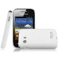 IMAK Ultrathin Matte Color Covers Hard Cases for Samsung S5368 - White (High transparent screen protector)