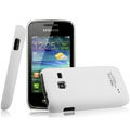 IMAK Ultrathin Matte Color Covers Hard Cases for Samsung S5380 Wave Y - White (High transparent screen protector)