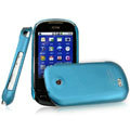 IMAK Ultrathin Matte Color Covers Hard Cases for Samsung i5500 i5508 - Blue (High transparent screen protector)
