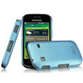 IMAK Ultrathin Matte Color Covers Hard Cases for Samsung i569 S5660 Galaxy Gio - Blue (High transparent screen protector)