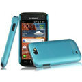 IMAK Ultrathin Matte Color Covers Hard Cases for Samsung i8150 Galaxy W - Blue (High transparent screen protector)