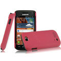 IMAK Ultrathin Matte Color Covers Hard Cases for Samsung i8150 Galaxy W - Rose (High transparent screen protector)