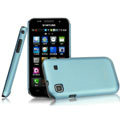 IMAK Ultrathin Matte Color Covers Hard Cases for Samsung i9003 - Blue (High transparent screen protector)