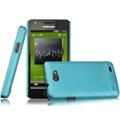 IMAK Ultrathin Matte Color Covers Hard Cases for Samsung i9103 Galaxy R - Blue (High transparent screen protector)