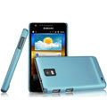 IMAK Ultrathin Matte Color Covers Hard Cases for Samsung i919 GALAXY SII - Blue (High transparent screen protector)