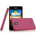 IMAK Ultrathin Matte Color Covers Hard Cases for Samsung i919 GALAXY SII - Rose (High transparent screen protector)