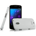 IMAK Ultrathin Matte Color Covers Hard Cases for Samsung i9250 GALAXY Nexus Prime i515 - White (High transparent screen protector)