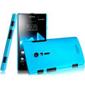 IMAK Ultrathin Matte Color Covers Hard Cases for Sony Ericsson LT28i Xperia ion - Blue (High transparent screen protector)