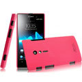 IMAK Ultrathin Matte Color Covers Hard Cases for Sony Ericsson LT28i Xperia ion - Rose (High transparent screen protector)