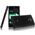 IMAK Ultrathin Matte Color Covers Hard Cases for Sony Ericsson LT29i Xperia Hayabusa Xperia GX/TX - Black (High transparent screen protector)