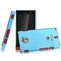 IMAK Ultrathin Matte Color Covers Hard Cases for Sony Ericsson MT27i Xperia sola - Blue (High transparent screen protector)