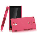 IMAK Ultrathin Matte Color Covers Hard Cases for Sony Ericsson MT27i Xperia sola - Rose (High transparent screen protector)
