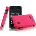 IMAK Ultrathin Matte Color Covers Hard Cases for Sony Ericsson ST21i Xperia Tipo - Rose (High transparent screen protector)
