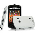 IMAK Ultrathin Matte Color Covers Hard Cases for Sony Ericsson WT18i - White (High transparent screen protector)