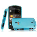 IMAK Ultrathin Matte Color Covers Hard Cases for Sony Ericsson WT19i - Blue (High transparent screen protector)
