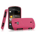 IMAK Ultrathin Matte Color Covers Hard Cases for Sony Ericsson WT19i - Rose (High transparent screen protector)