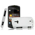 IMAK Ultrathin Matte Color Covers Hard Cases for Sony Ericsson WT19i - White (High transparent screen protector)