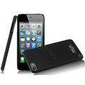 IMAK Ultrathin Matte Color Covers Hard Cases for iPod touch 5 - Black (High transparent screen protector)