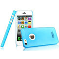 IMAK Water Jade Shell Hard Cases Covers for iPhone 5 - Blue (High transparent screen protector)