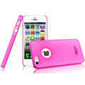 IMAK Water Jade Shell Hard Cases Covers for iPhone 5 - Rose (High transparent screen protector)