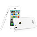 IMAK Water Jade Shell Hard Cases Covers for iPhone 5 - White (High transparent screen protector)