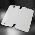 Battery back Cover Siamese holster leather cases Skin for Samsung N7100 GALAXY Note2 - White