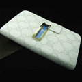 GUCCI leather flip cases Holster cover for Samsung Galaxy Note i9220 N7000 i717 - White