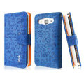 IMAK Candy holster leather Cases Covers Skin for Samsung B9062 - Blue