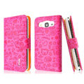 IMAK Candy holster leather Cases Covers Skin for Samsung B9062 - Rose