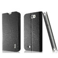 IMAK Slim leather Cases Luxury Holster Covers for Samsung N7100 GALAXY Note2 - Black
