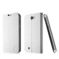 IMAK Slim leather Cases Luxury Holster Covers for Samsung N7100 GALAXY Note2 - White