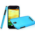 IMAK Ultrathin Matte Color Covers Hard Cases for HTC T528t One ST - Blue (High transparent screen protector)
