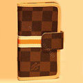 LOUIS VUITTON LV Holster cover leather cases Skin for Samsung Galaxy SIII S3 I9300 I9308 I939 I535 - Brown
