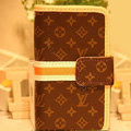 LOUIS VUITTON LV covers Holster leather cases Skin for Samsung Galaxy SIII S3 I9300 I9308 I939 I535 - Brown