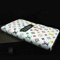 LOUIS VUITTON LV leather flip cases Holster cover for Samsung Galaxy Note i9220 N7000 i717 - White