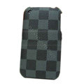 LV LOUIS VUITTON leather Cases Hard Back Covers Skin for iPhone 3G/3GS - Gray
