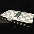 LV LOUIS VUITTON leather flip cases Holster cover for Samsung Galaxy Note i9220 N7000 i717 - Beige