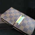 LV LOUIS VUITTON leather flip cases Holster cover for Samsung Galaxy Note i9220 N7000 i717 - Brown