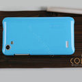Nillkin Colourful Hard Cases Covers Skin for HTC T528d One SC - Blue (High transparent screen protector)