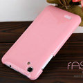 Nillkin Colourful Hard Cases Covers Skin for HTC T528d One SC - Pink (High transparent screen protector)