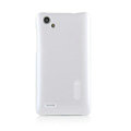 Nillkin Colourful Hard Cases Covers Skin for HTC T528d One SC - White (High transparent screen protector)