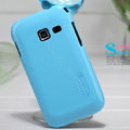 Nillkin Colourful Hard Cases Covers Skin for Samsung S6358 S6802 Galaxy Ace Duos - Blue (High transparent screen protector)