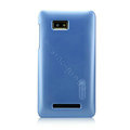 Nillkin Colourful Hard Cases Skin Covers for HTC T528w One SU - Blue (High transparent screen protector)