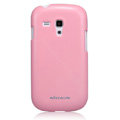 Nillkin Colourful Hard Cases Skin Covers for Samsung I8190 GALAXY SIII Mini - Pink (High transparent screen protector)